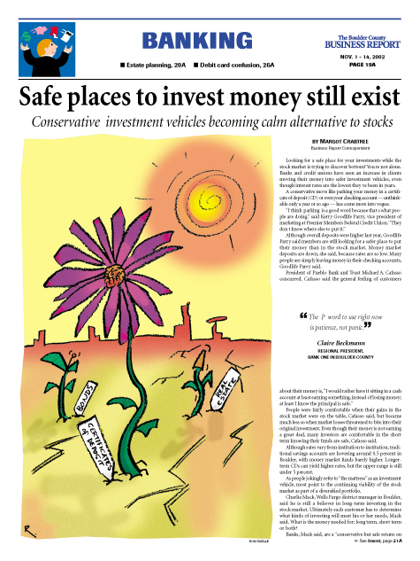 safe investment comic cartoon