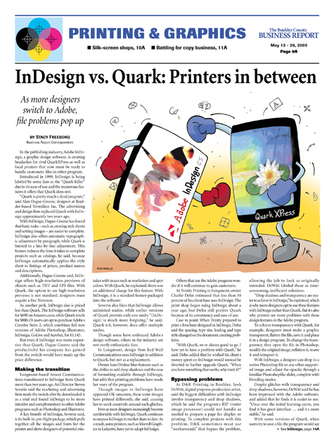 quark indesign comic cartoon