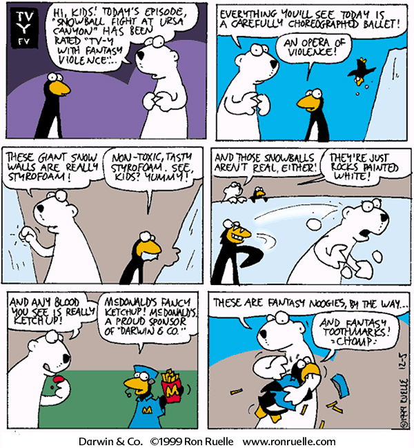 snowball fight comic cartoon